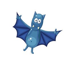Cartoon bat isolated on white background