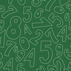 Seamless pattern with numbers