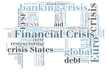 Financial crisis word cloud