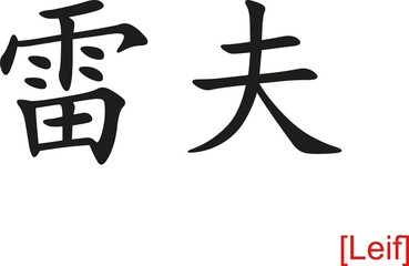 Chinese Sign for Leif