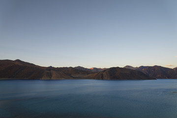 Mountain lake at twilight