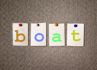 boat note on pin board