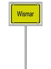 Wismar - Ortsschild