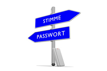 Passwort >>> Stimme / Konzept Sicherheit