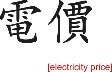 Chinese Sign for electricity price