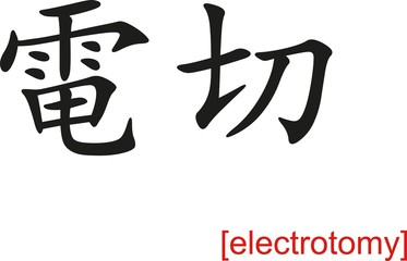 Chinese Sign for electrotomy