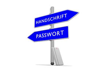 Passwort >>> Handschrift / Konzept Sicherheit