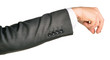 Businessman hand to hold small gadget