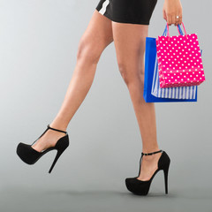 Woman with black high heels