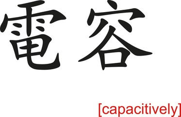 Chinese Sign for capacitively
