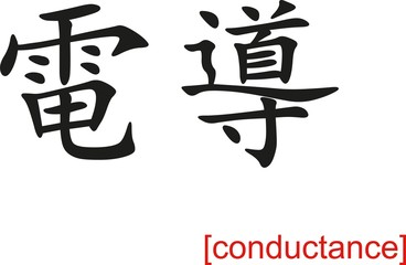 Chinese Sign for conductance