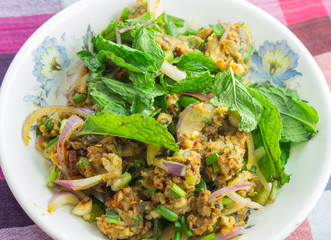 spicy catfish salad