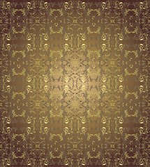 Dark brown floral background vector