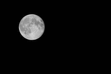 Full moon at night sky