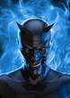 canvas print picture - The devil in black