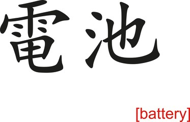 Chinese Sign for battery