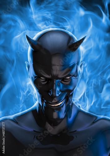 canvas print picture The devil in black