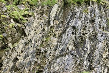 Rock wall close up