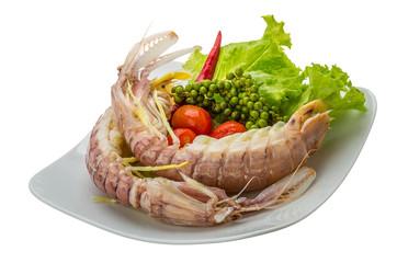 Boiled Spiny lobster