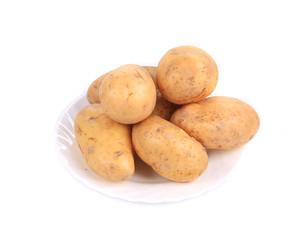 Fresh ripe potatoes.