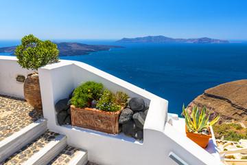 Beautiful Sea View From Fira In Santorini, Greece