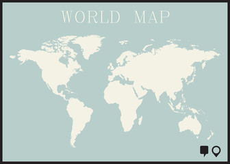 infographic worl map