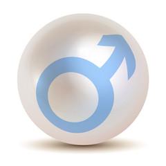Marssymbol männliche Geschlecht Perle