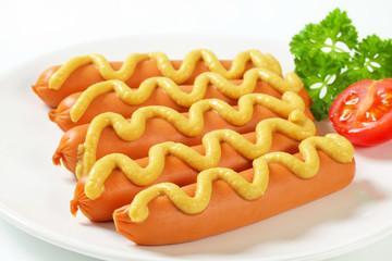 Frankfurters with mustard