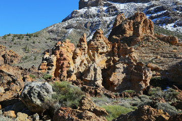 Spectacular rock formations in Teide National Park