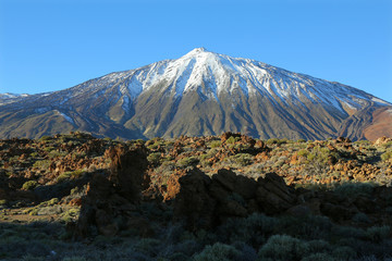 Snow-capped El Teide, Tenerife