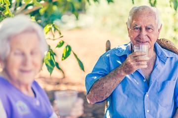 pensioner under tree