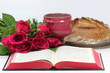 Communion with roses