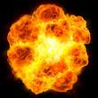 Leinwandbild Motiv fireball: explosion