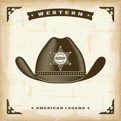Vintage Western Sheriff Hat
