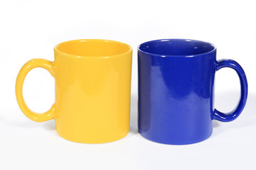Two colorful cups