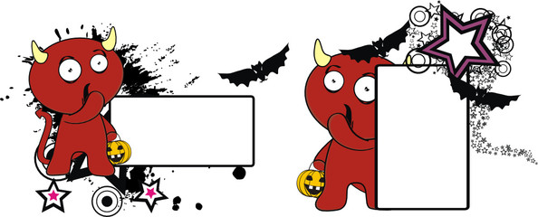 devil cute cartoon copyspace halloween