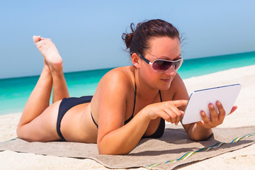 Summer holidays with tablet