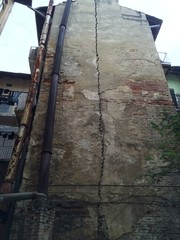 old house with crack