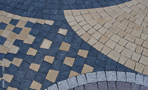 pattern on the pavement - 68743513