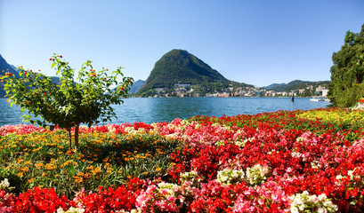 Monte San Salvatore seen from the park