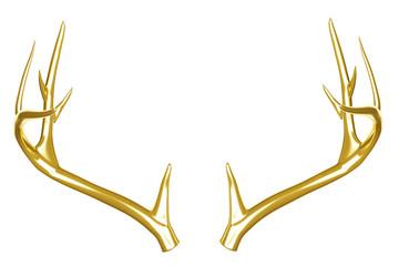 Golden deer antlers.