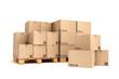 Cardboard boxes on pallet. - 68744521