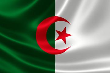 Close-up of Algeria's Flag