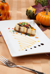 Autumn Cheesecake and Pumpkins