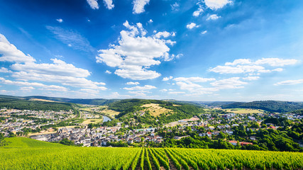 Panoramic View of Saarburg, Germany