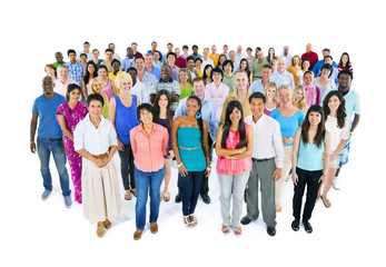 Large Multi-Ethnic Group of World People