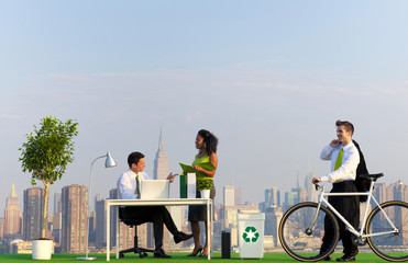 Environmentally Green Office in the City