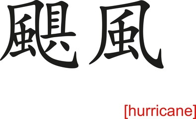 Chinese Sign for hurricane