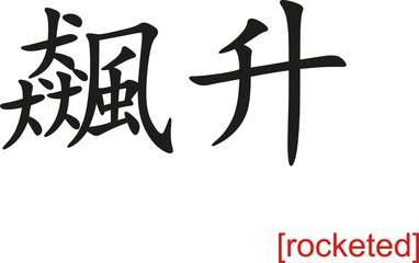 Chinese Sign for rocketed