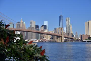 Sunny day ove Manhattan